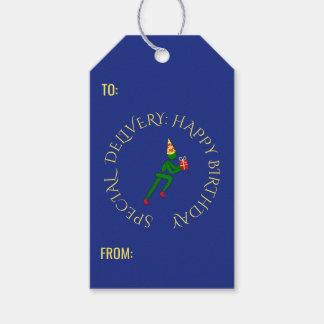 Etiqueta Para Presente Azul feito sob encomenda do verde do texto do