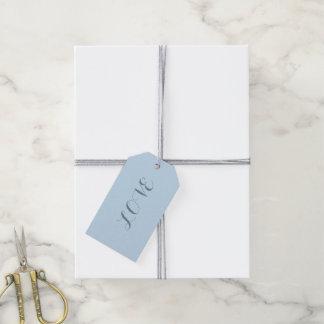 Etiqueta Para Presente Azul pastel beachy chique feminino minimalista do