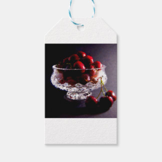 Etiqueta Para Presente Bacia de abstrato das cerejas