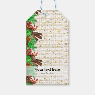 Etiqueta Para Presente Bagas do azevinho do Natal