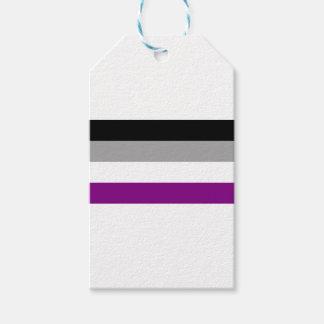 Etiqueta Para Presente Bandeira assexuada do orgulho