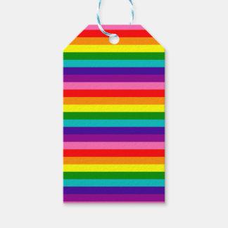 Etiqueta Para Presente Bandeira das listras do original 8 do orgulho gay
