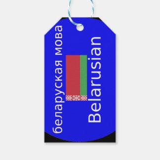 Etiqueta Para Presente Bandeira de Belarus e design da língua