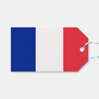 Etiqueta Para Presente Bandeira de Tag do presente de France