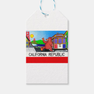 Etiqueta Para Presente Bandeira do urso de San Francisco Califórnia