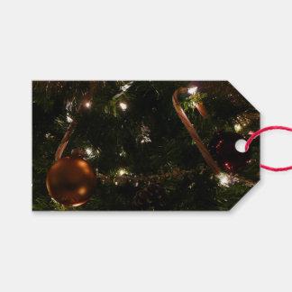 Etiqueta Para Presente Bastão e ornamento de doces do feriado da árvore