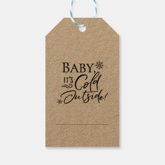 Etiqueta Para Presente Bebê é Tag exteriores frios do presente