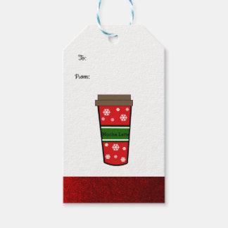 Etiqueta Para Presente Bebida do feriado de Latte do Mocha