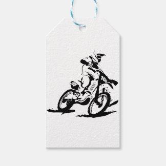 Etiqueta Para Presente Bicicleta e cavaleiro simples de Motorcross