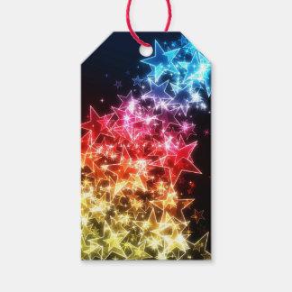 Etiqueta Para Presente Bloco colorido das estrelas de Tag do presente