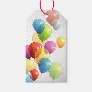 Etiqueta Para Presente Bloco colorido dos balões de Tag do presente