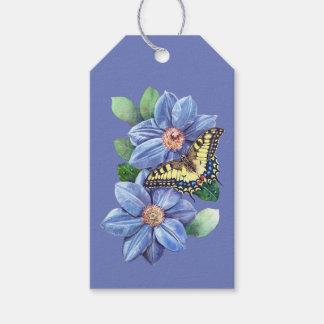 Etiqueta Para Presente Bloco da borboleta da aguarela de Tag do presente