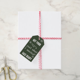 Etiqueta Para Presente Bloco engraçado dos Tag   dos presentes do Natal