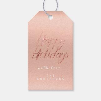 Etiqueta Para Presente Boas festas o presente ao roteiro cor-de-rosa de