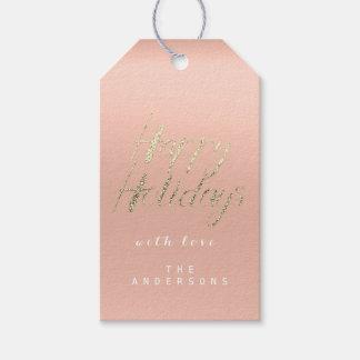Etiqueta Para Presente Boas festas presente ao roteiro cor-de-rosa de