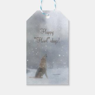 Etiqueta Para Presente Boas festas Tag engraçados do presente com lobo e