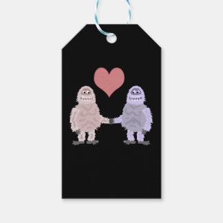 Etiqueta Para Presente Bonecos de neve abomináveis engraçados no amor