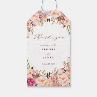 Etiqueta Para Presente Borgonha Marsala cora obrigado que do casamento de
