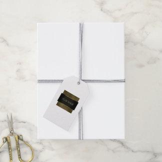 Etiqueta Para Presente Boutique preto do quadro do ouro branco Lux mínimo