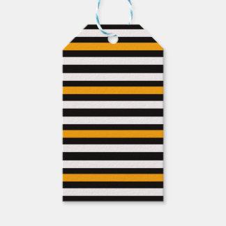 Etiqueta Para Presente Branco preto alaranjado horizontal das listras
