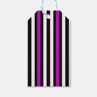 Etiqueta Para Presente Branco preto roxo vertical das listras