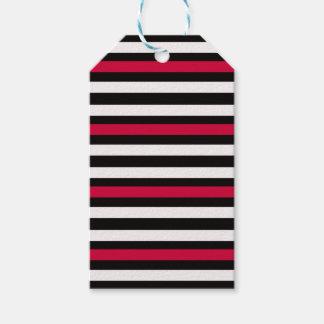 Etiqueta Para Presente Branco vermelho da listra preta