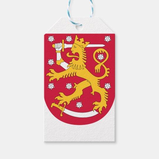 Etiqueta Para Presente Brasão de Finlandia - Suomen Vaakuna