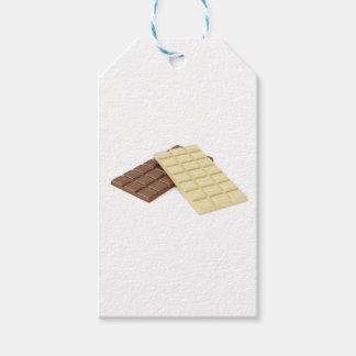 Etiqueta Para Presente Brown e bares de chocolate brancos