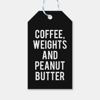 Etiqueta Para Presente Café, pesos e manteiga de amendoim - novidade