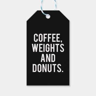 Etiqueta Para Presente Café, pesos e rosquinhas - Gym engraçado da