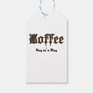 Etiqueta Para Presente Café - um abraço em uma caneca    gótico