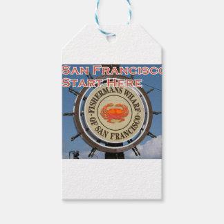 Etiqueta Para Presente Cais San Francisco Califórnia EUA CA de Fishermans