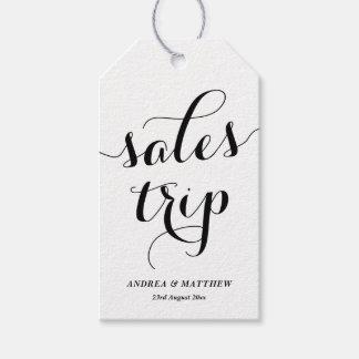 Etiqueta Para Presente Caligrafia moderna bonito da viagem das vendas