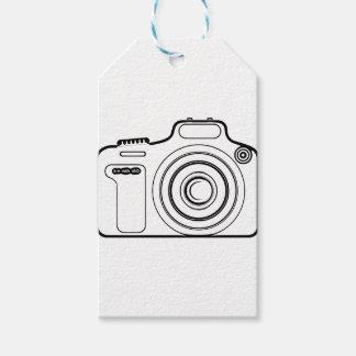 Etiqueta Para Presente Câmera preto e branco