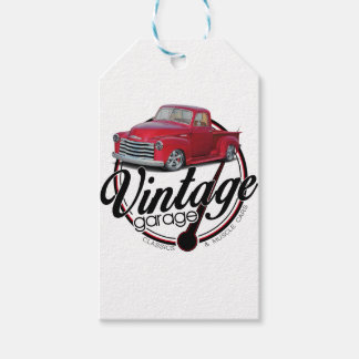 Etiqueta Para Presente Caminhão da garagem do vintage
