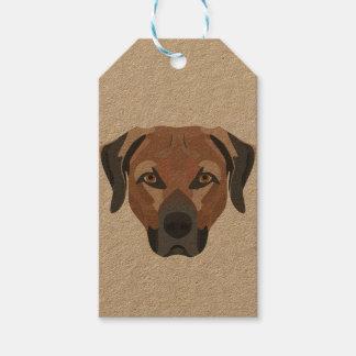 Etiqueta Para Presente Cão Brown Labrador da ilustração