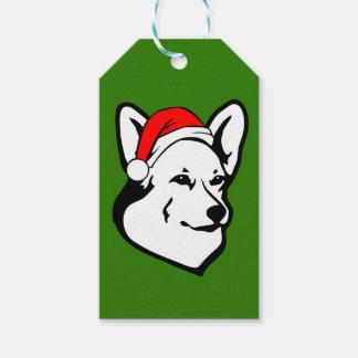 Etiqueta Para Presente Cão do Corgi de galês do Pembroke com o chapéu do