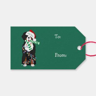 Etiqueta Para Presente Cão feito sob encomenda do feriado da montanha de