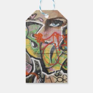 Etiqueta Para Presente cara do tipo de texto mulher mural da arte