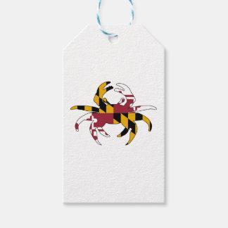 Etiqueta Para Presente Caranguejo da bandeira de Maryland
