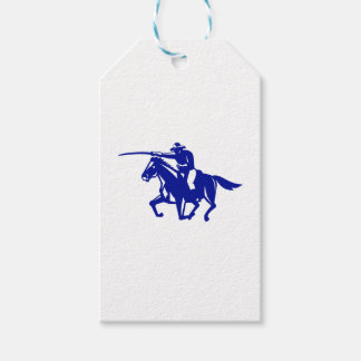 Etiqueta Para Presente Carregamento americano da cavalaria retro