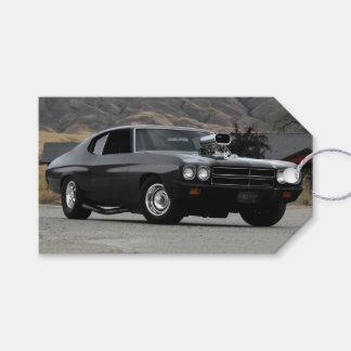 Etiqueta Para Presente Carro 1970 do músculo do arrasto de Chevy Chevelle