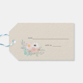 Etiqueta Para Presente Cartão do lugar do Tag do presente do buquê da