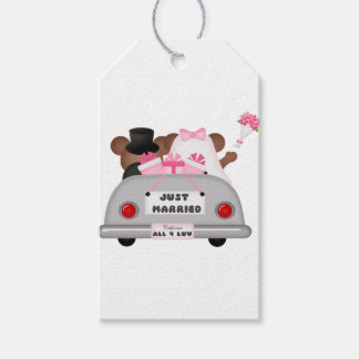 Etiqueta Para Presente Casal-Apenas do carro do casamento casado