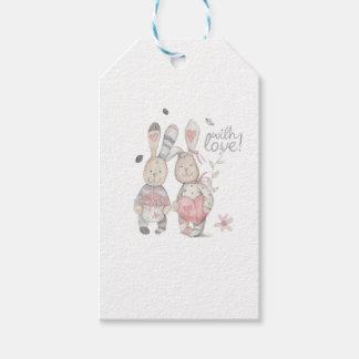 Etiqueta Para Presente casal banny 2 do coelho