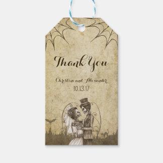 Etiqueta Para Presente Casal de esqueleto para o casamento do Dia das