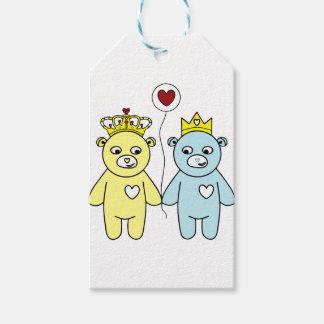 Etiqueta Para Presente casal do urso de ursinho