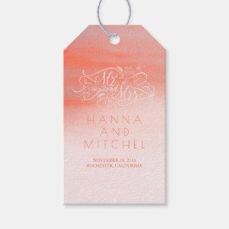 Etiqueta Para Presente Casamento branco da tipografia elegante
