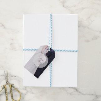 Etiqueta Para Presente Casamento editável da fotografia da noiva & do