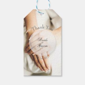 Etiqueta Para Presente Casamento editável da fotografia do anel de